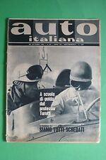 AUTO ITALIANA 27/1961 SALONE DI LONDRA INDUSTRIA AMERICANA CAMPIONATO ITALIANO