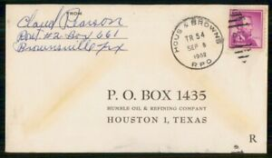 Mayfairstamps US 1963 to Humble Oil Refining Hous Browns RPO Cover Oil wwi_64005