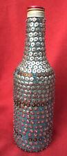 Haitian Vodou Vintage Sequined Libation Bottle For Offerings