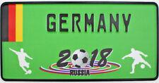 WM Germany US Fun Nummernschild Fussball Kennzeichen 300x150mm reflektierend