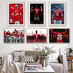 Manchester United Legends Top Football Sport Print Poster Wall Art Picture A4 +