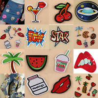Lots DIY Embroidered Iron on Patch Applique Sewn Embroidery For Clothing Bag Art