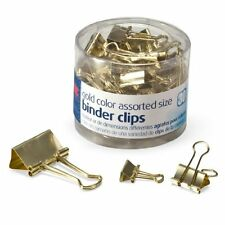 Gold Binder Clips 30 Pcs Mini Small Medium Size Desk Accessories Office Supplies
