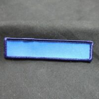 """Custom Embroidered Name Tag Sew on Patch """"Blank Blue"""""""