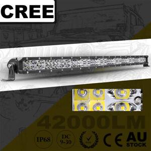 "30"" Cree Single Row LED Work Light Bar Super Slim Spot Flood Driving Truck 4WD"