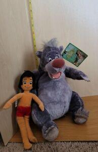 Disney Exclusive Jungle Book Mowgli and Baloo Plush Dolls RARE NWT Has Tags Bear