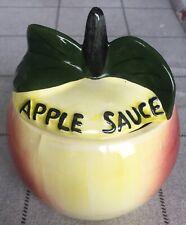 Toni Raymond Apple Sauce Pot en céramique Pot années 1960 Kitchenalia excentrique personnage