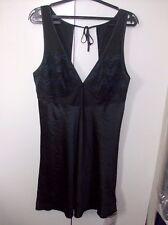 GEORGE LADIES BLACK AND PURPLE LADIES NIGHT DRESS CHEMISE UK SZ 12 NWOT