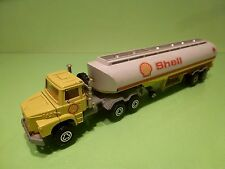 MAJORETTE  SCANIA  SUPER  TRUCK + TANKER - SHELL YELLOW 1:60 - GOOD CONDITION