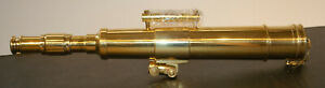 NOS Nautical Brass Telescope w/ Tripod From The Smithsonian Catalogue #76165