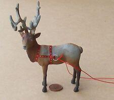 1:12 Scale Dolls House Santa's Lead Reindeer -Dancer- Christmas Xmas Accessory