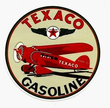 """TEXACO WW2 DELIVERY PLANE FUEL""  PROMO VINYL STICKER / DECAL OIL GAS PETROL"