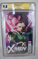 Astonishing X-Men 1 2017 CGC SS 9.8 Signed Stanley Lau Artgerm 1:100 Variant