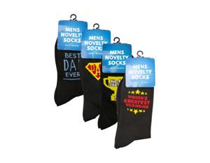 Dad Novelty Socks Birthday Fathers Day Size 6-11 Super Best No1 Greatest Grandad