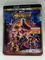 AVENGERS: Infinity War (4K + Blu-ray + Digital) Brand New Exclusive With Slip