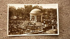 OLD 1920s BRITISH POSTCARD, SOUTHPORT MERSEYSIDE ENGLAND, THE BANDSTAND