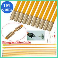 10x1M 6mm Fibre de verre Extracteurs de câbles Aiguille Câble Électricien Kit