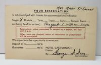 Hotel Californian Reservation Postcard 1950 to Staten Island NY Postcard C9
