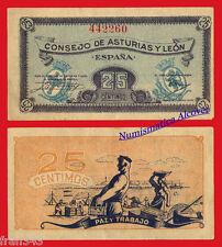 CONSEJO DE ASTURIAS Y LEON 25 centimos 1936  SC-  /  SPAIN  Pick S601 aUNC