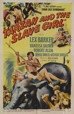TARZAN AND THE SLAVE GIRL Movie POSTER 27x40 Lex Barker Vanessa Brown Robert