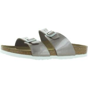 Birkenstock Womens Sydney Taupe Birko-Flor Footbed Sandals Flats 42 BHFO 6625