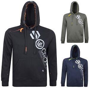 Mens Crosshatch Hoodie Designer Hooded Jacket Casual Sweatshirt Top New Jumper