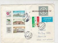 Hungary 1990 Airmail to USA Budapest Cancel Mixed Stamps Sheet Cover Ref 23459