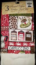 New cappuccino coffee kitchen towel set 3 pieces