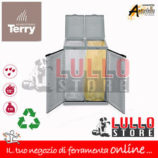 PATTUMIERA PER RACCOLTA DIFFERENZIATA MULTIPLA 2 POSTI TERRY ARMADIO RESINA ECO