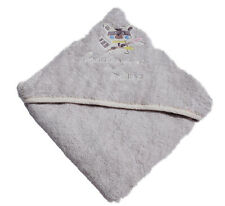 2x Luxury Super Soft Baby Hooded Towel 100% Cotton Bath Embroidered Towel 600GSM