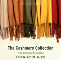 Cashmere Feel Scarf Wrap Soft Pashmina Wool Scarf Cashmere Shawl 17 Colours