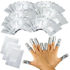 100pcs Aluminum Foil Nail Art Soak Off Acrylic Gel Polish Nail Wraps Remover DIY