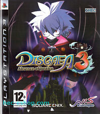 Disgaea 3: Absence of Justice Sony PS3 12+ RPG Role Playing Tactiical Game