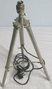 OLD TRIPOD LAMP INDUSTRIAL STEAMPUNK