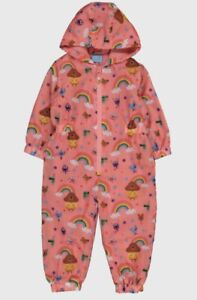 2-3 Years Gurls Hey Duggee Pink Puddlesuit New TU