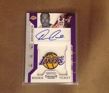 Derrick Caracter 2011 Contender Rookie Ticket Autograph Patches Lakers Logo