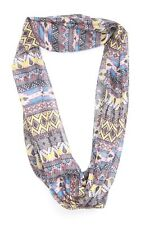 Blue Yellow Red Tribal Motives Perfect Confident Person Scarf (s37)