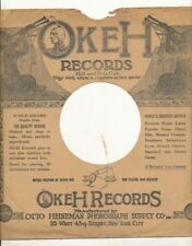 78 RPM Company logo sleeves-Pre-War-OKEH vertical 1000 series-style 2