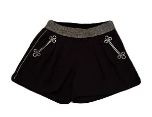 LITTLE MARC JACOBS Girls Black / Silver Shorts With Logo BNWT - RRP £64