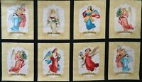 "By the Panel 24"" x 44"" 100% cotton fabric Wilmington Angel Song Blocks holiday"