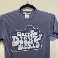 Walt Disney World Mickey Mouse Blue Tshirt Size Small Short Sleeve