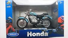 WELLY HONDA SHADOW VT1100C 1:18 DIE CAST MODEL NEW IN BOX LICENSED MOTORCYCLE