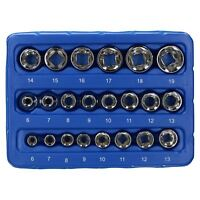 "1/4"" And 3/8"" Drive Metric MM Shallow Super Lock Socket Set 6mm - 19mm 22pc"
