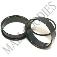 "0088 Black Single Flare Flesh Steel Tunnels Earlets Big Gauges 1-3/8"" Plugs 35mm"