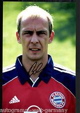 Mario Basler super grandi foto 20x30 cm il Bayern Monaco ORIG. Sign. +04