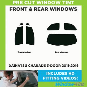 Pre Cut Window Tint - Daihatsu Charade 3-door 2011-2016 - Full (Front & Rear)