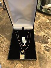 Roberto Coin Pois Moi Diamond Lock Necklace