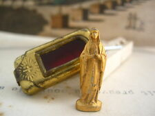 Antique Pocket Shrine with miniature statue of the Virgin Mary