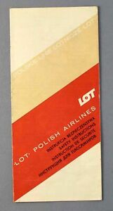 LOT POLISH AIRLINES ILYUSHIN IL-18 AN-24 TU-134 VINTAGE AIRLINE SAFETY CARD