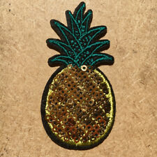 1pc Pineapple Sequin Embroidered Patch Cloth Iron On Applique craft sewing #1146